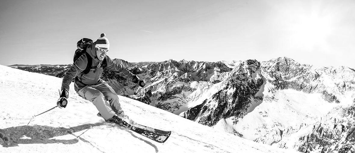 Slalomskidor i fjällen