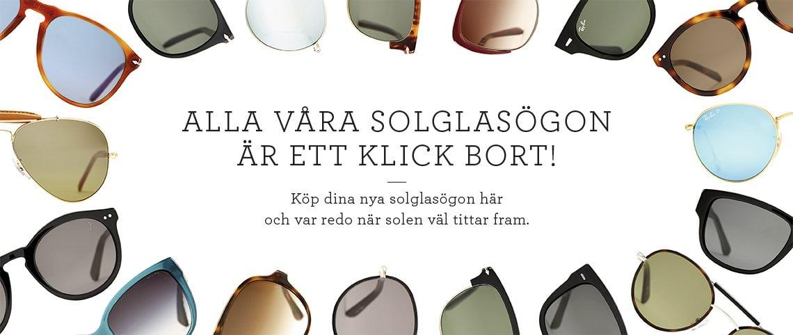 Alla våra solglasögon är ett klick bort