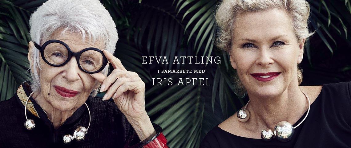 Efva Attling i samarbete med Iris Apfel